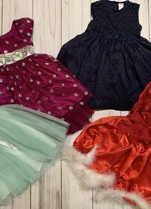 Новогодние платья юбки нарядные на утренник праздничные на девочку 9 мес 12 мес 18 мес 2 года