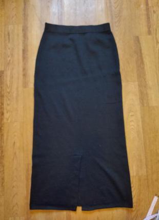 Вязаная юбка макси