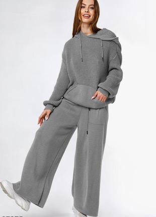 Комфортний в'язаний oversize-костюм / комфортный вязаный oversize / безкоштовна доставка