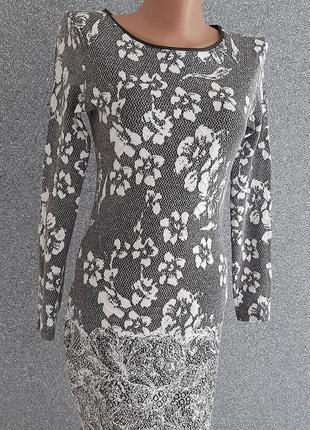 🍁🌳🍁 трендовое платье тёплый трикотаж цветы