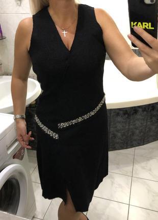 Camaïeu , лоден ассиметричное шерстяное платье сарафан