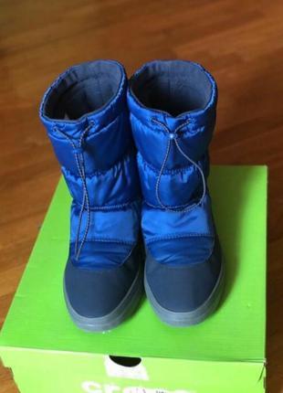 Тёплые сапоги дутики демисезон-зима crocs m7w9
