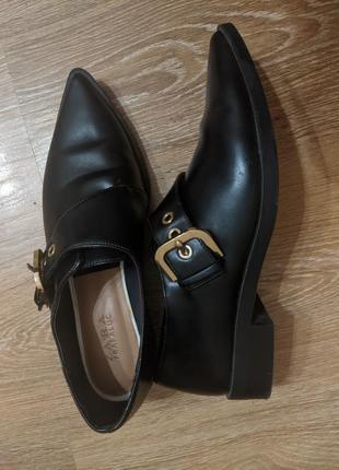 Туфли   осенние плотная кожа