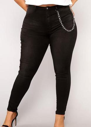 Мегаклассные стрейчевые джинсы скини на пышные формы  next...