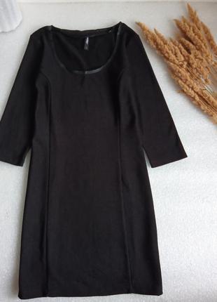 ✨базова, чорна сукня в рубчик, короткое платье ✨