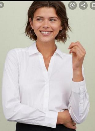 Белая рубашка от h&m