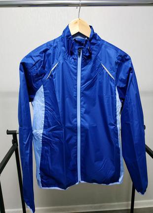 Непромокаемая куртка ветровка синяя crivit
