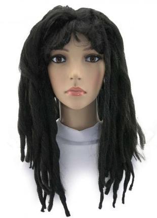 Парик маскарадный дреды черный длинные волосы 54 см супер цена!!! +подарок