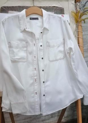 Рубашка белая m&s