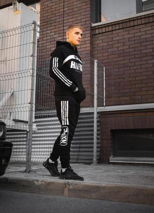 ⚫️спортивный костюм killer b (черный) трехнить⚫️