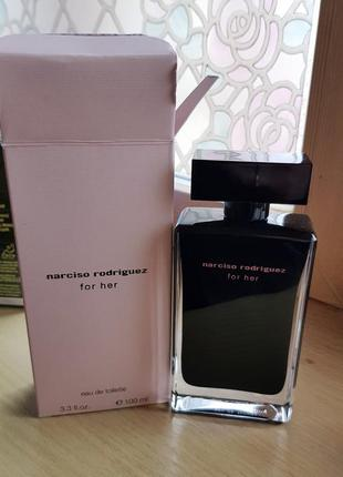 Narciso rodriguez for her 100 ml оригинал новые духи парфюмерная вода