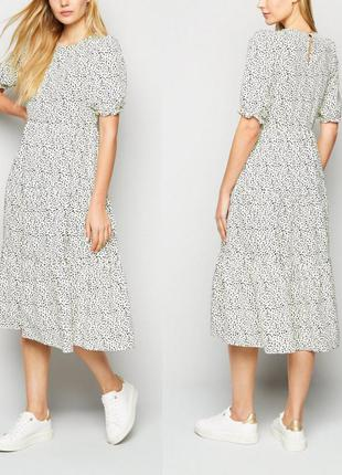 Шикарное платье в горошек shein
