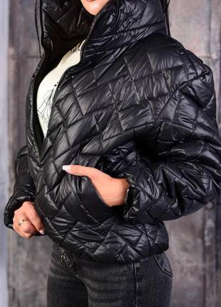 Демисезонная женская стеганная куртка бомбер, оверсайз oversize, качество отличное