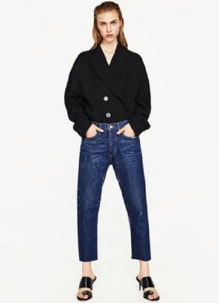 Zara джинсы свободного кроя, джинсы сигареты, джинсы мом, джинсы бойфренд