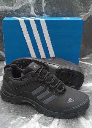 Черные муские кроссовки adidas climaproof черные, демисезонные