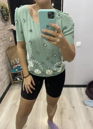Блузка next с бисером