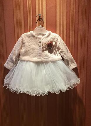 Платье с накидкой для крестин. турция