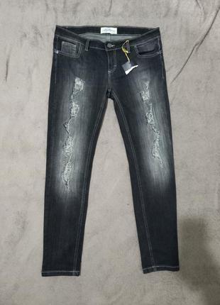 Крутые женские рваные джинсы суперстрейч