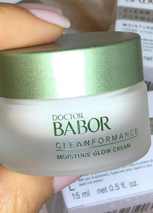 Крем для лица сияние babor cleanformance moisture glow cream