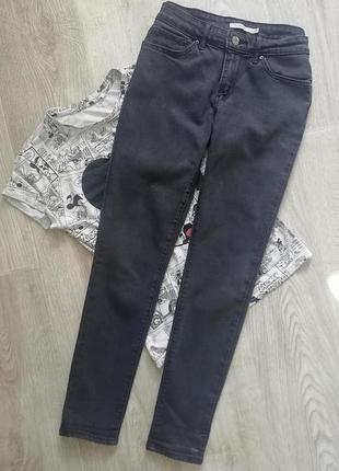 Levis черно графитовые джинсы скинни с высокой посадкой, джеггинсы, американки, брюки с высокой талией