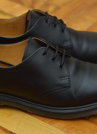 Черные мужские кожаные туфли, полуботинки dr. martens, 41 размер. оригинал