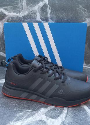 Мужские кроссовки adidas equipment черные, кожаные