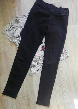 Zara черные джинсы скинни, брюки, джеггинсы, американки