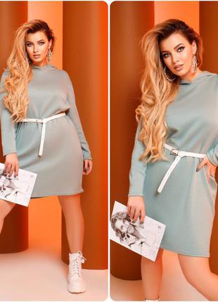 Ангоровое платье оливковое