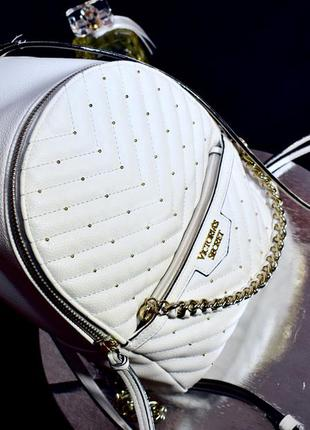 Білий рюкзак вікторія сікрет, белый городской рюкзак victorias secret. рюкзачок виктория сикрет