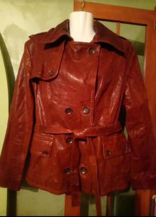 "🌺 🌿 🍃 куртка натуральная кожа""bata"" 🍃 🌿 🌺"
