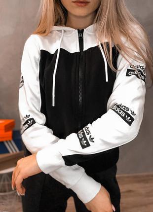 Adidas оригинальный зип худи толстовка худи кофта с капюшоном спортивна свитшот адидас