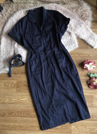 Коттоновое платье-миди(xl)