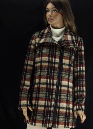 """Классное, стильное брендовое пальто """"canda premium"""" в клеточку. размер uk8/eur36."""