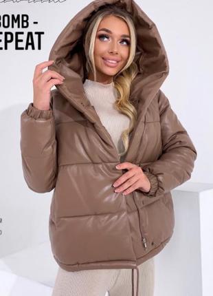 Женская куртка эко кожа