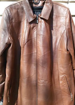 Кожаная куртка из мягкой кожи наппа 54 на утеплителе