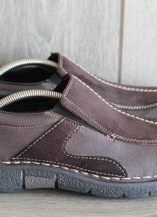 Мужские туфли, мокасины rieker 44-45 нат кожа