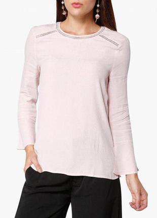 Розовая блуза с воланами zara