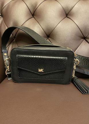 Michael kors small pebbled camera bag