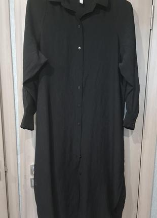 Черное платье оверсайз h&m