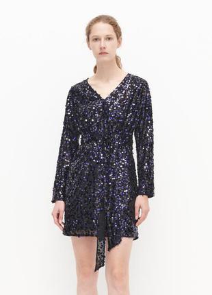 Красивое вечернее платье мини reserved с пайетками.