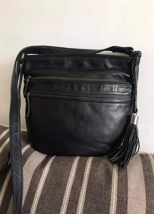 Кожаная сумка кроссбоди fat face