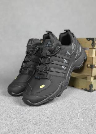 Осенние мужские черно-серые кроссовки нубук adidas terrex 465 🆕адидас терекс