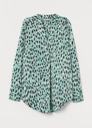 Зеленая блуза рубашка zara