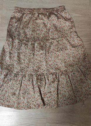 Невероятно красивая юбка ,цветочный принт