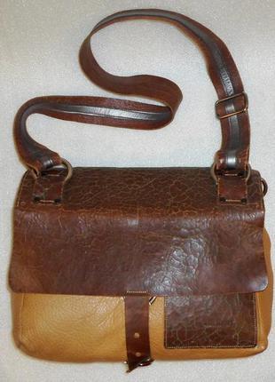 Большая сумка-трансформер *ina kent* натуральна шкіра