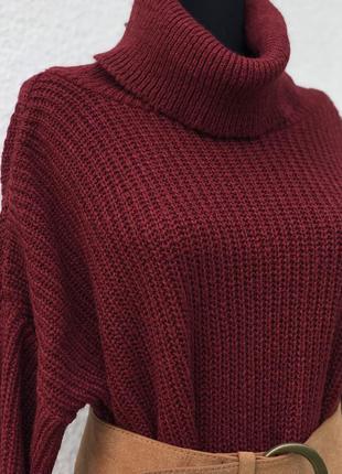 Объемный свитер тёплый база