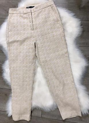 Твидовые брюки zara