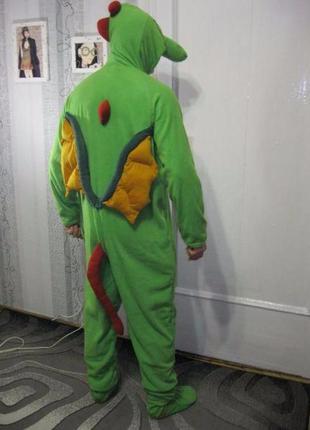 Дракон кигуруми костюм слип пижама анимэ лыжный высокий рост