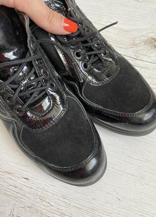 Кожаные туфли ботинки на танкетке❤️