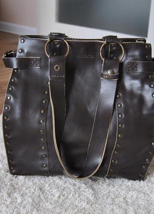 Кожаная сумка max & co max mara / шкіряна сумка